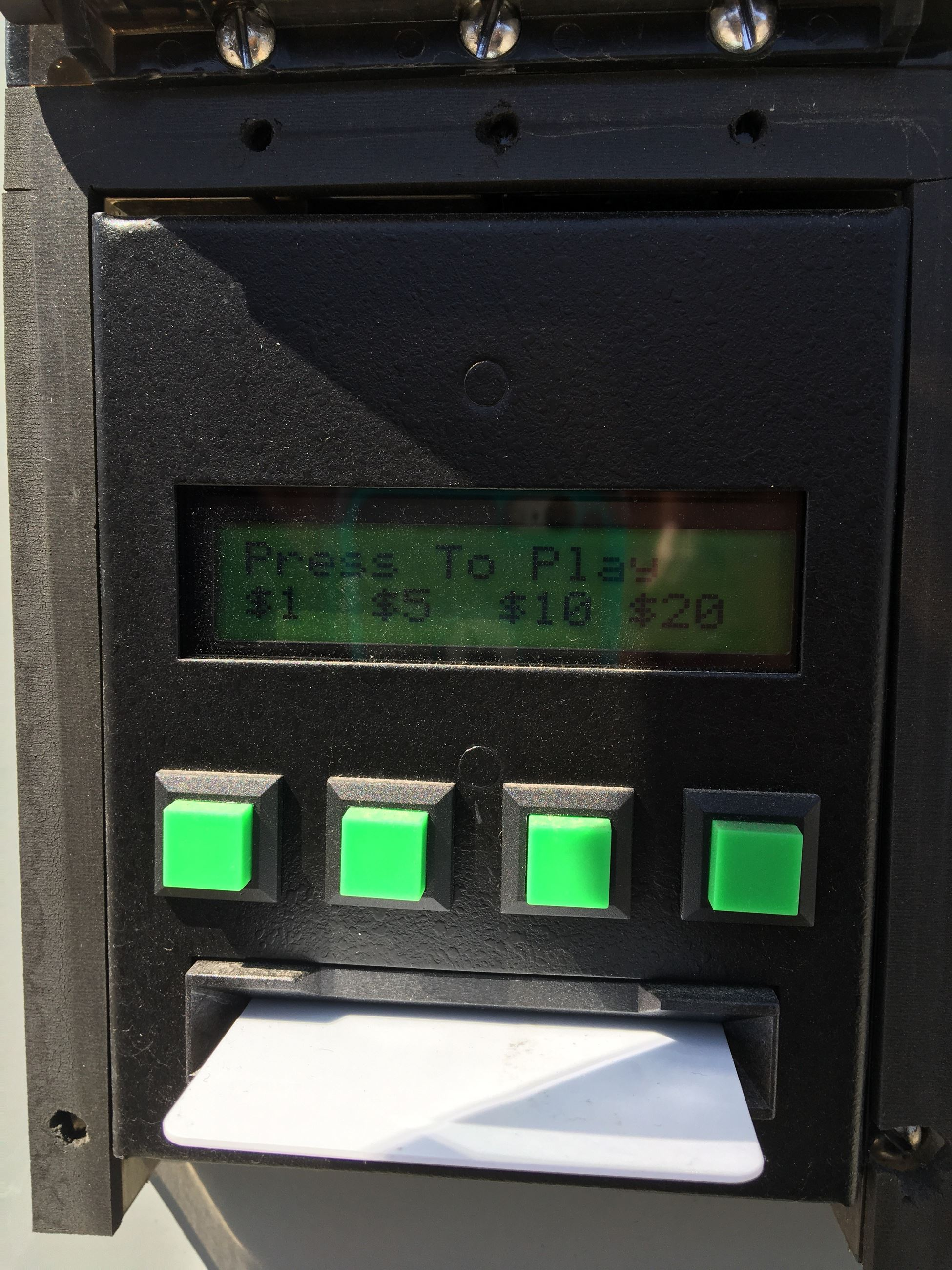 Watersalesman Card Reader Display-Select Payment Amount