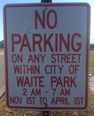 Winter Parking Sign WP