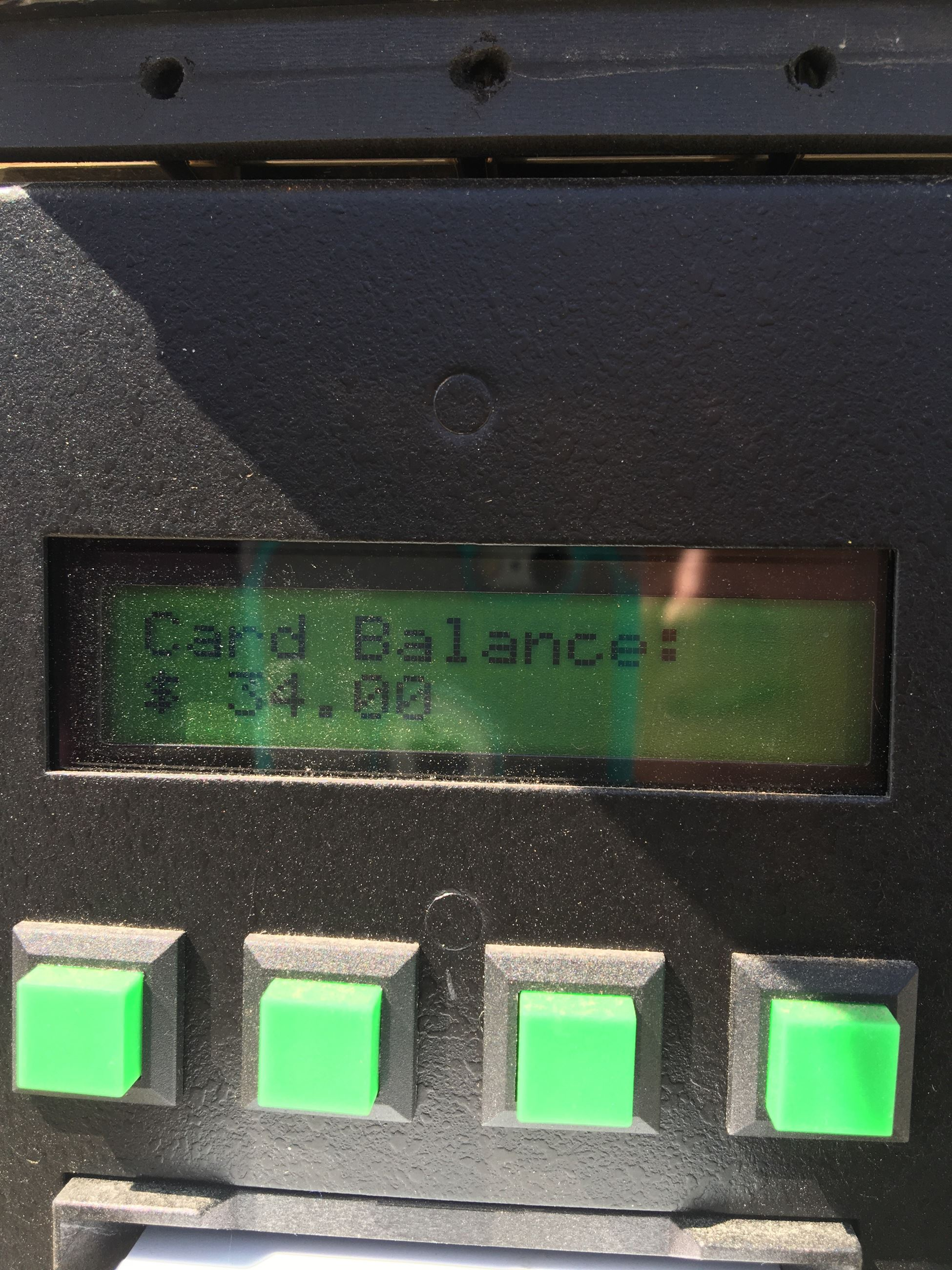 Watersalesman Card Reader Display-Balance Available