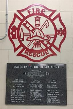 Fire Dept Symbol 1994 sign